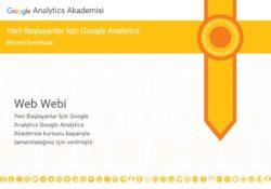 Google analytics sertifikası soru ve cevapları